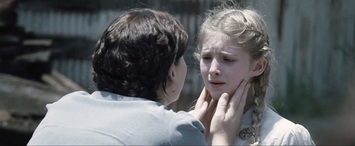 "Katniss reassures Prim before the Reaping. ""They're not gonna pick you, Prim."""