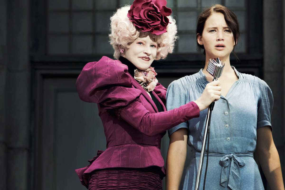 Effie introduces Katniss at the Reaping