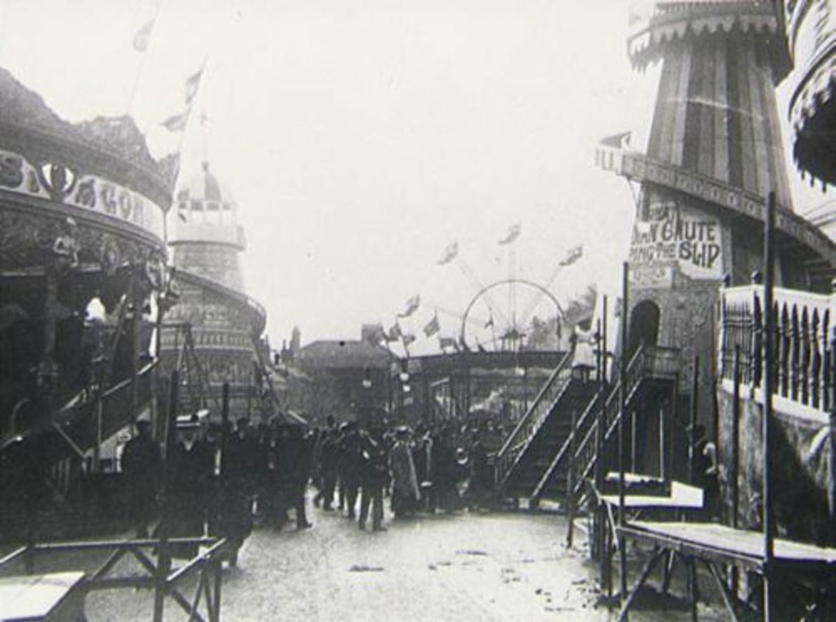 The Stratford Mop Fair, early 1900s