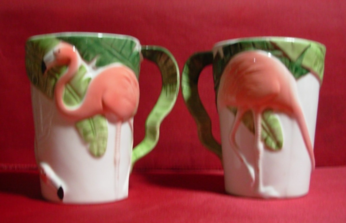I enjoy collecting things related to flamingos.