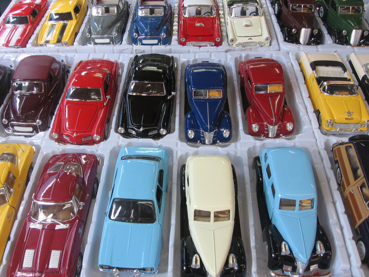 People often like to collect things that remind them of their childhood. For example, many people enjoy collecting toy cars.