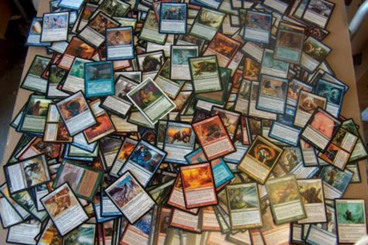 Piles of cards . . . a sign of a hoarder.