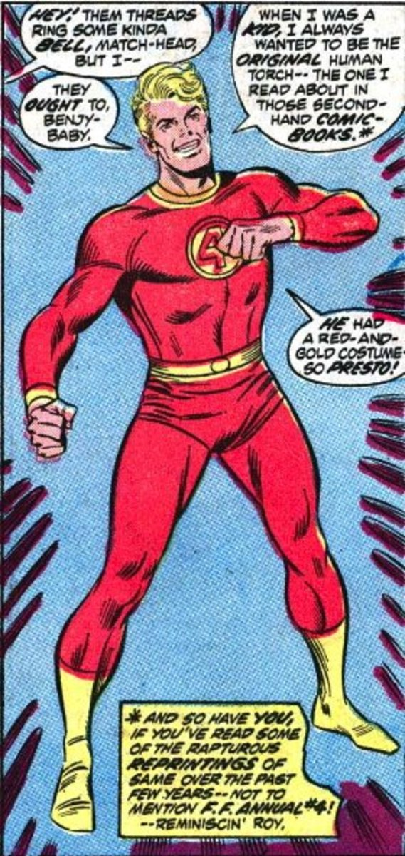 Johnny Storm's Red and Gold Costume