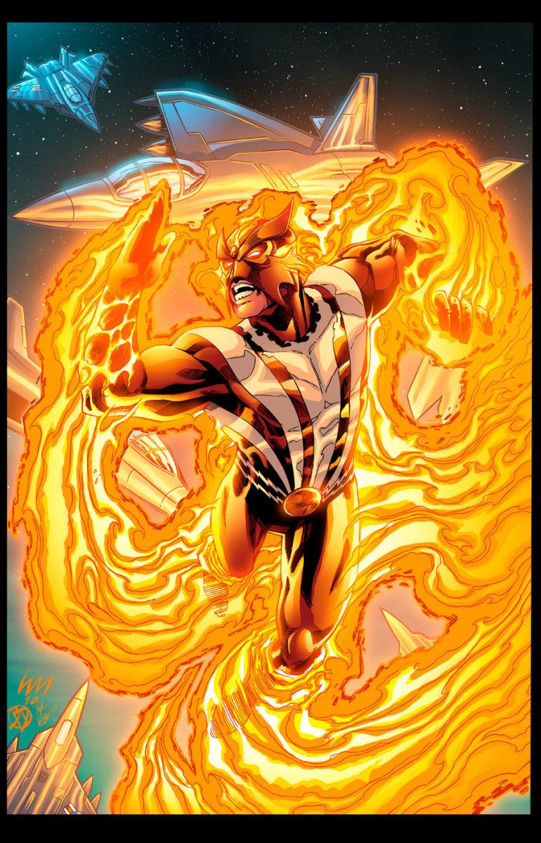 Sunfire of the X-men and Big Hero Six