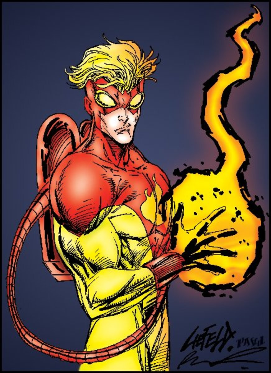 Pyro of Freedom Force and the Brotherhood of Evil Mutants