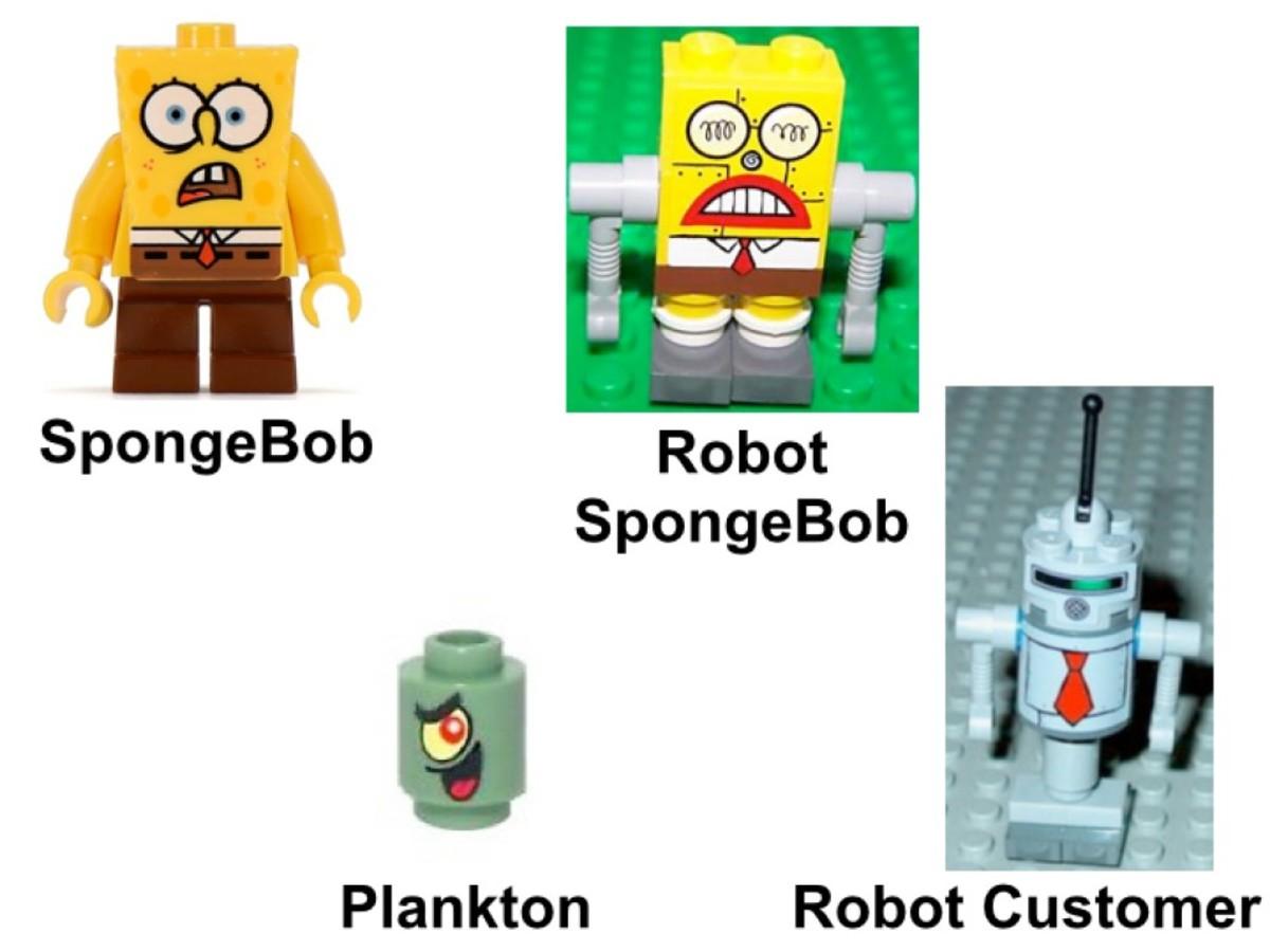 LEGO SpongeBob SquarePants Chum Bucket 4981 Minifigures