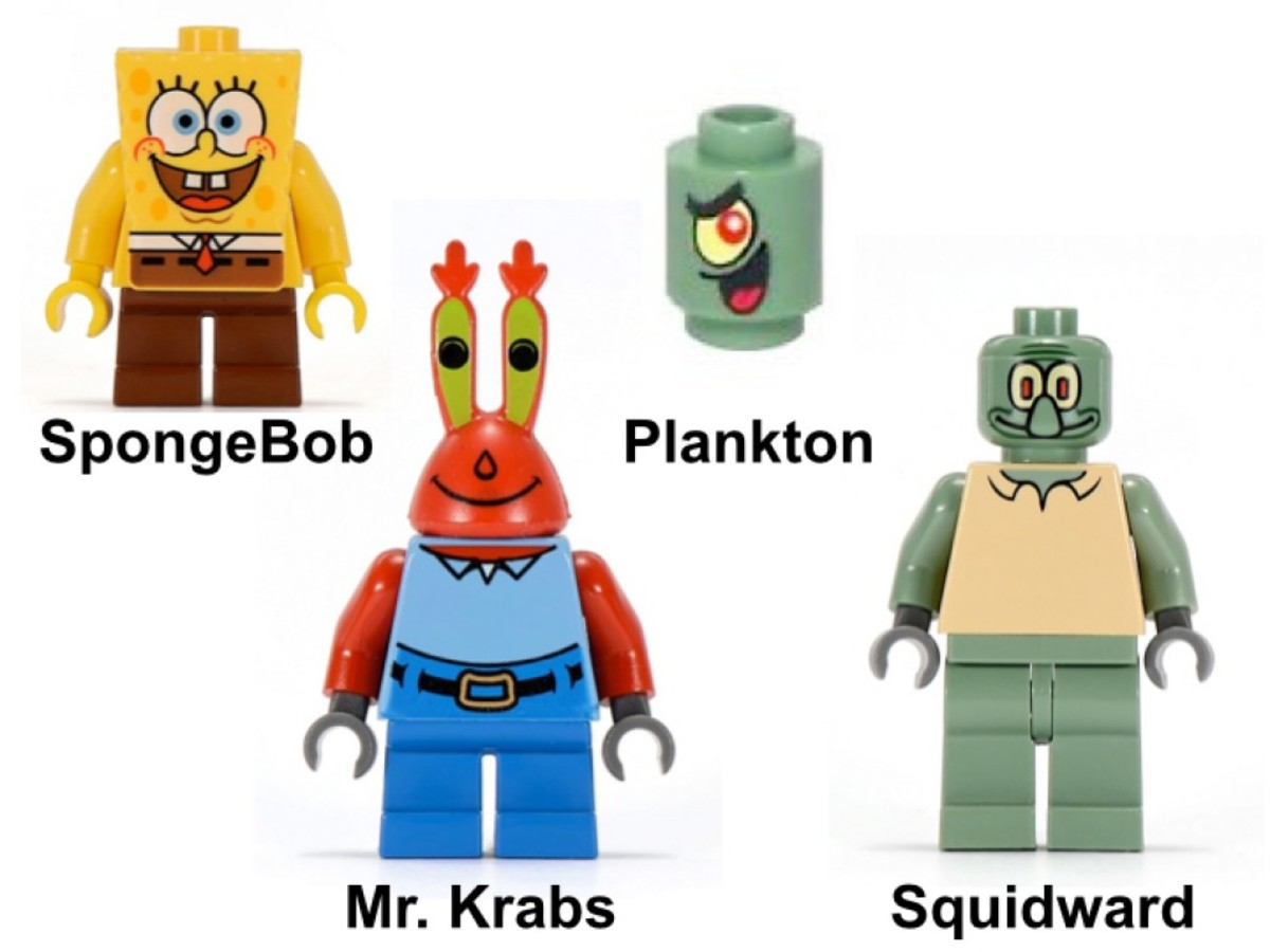 LEGO SpongeBob SquarePants Krusty Krab 3825 Minifigures