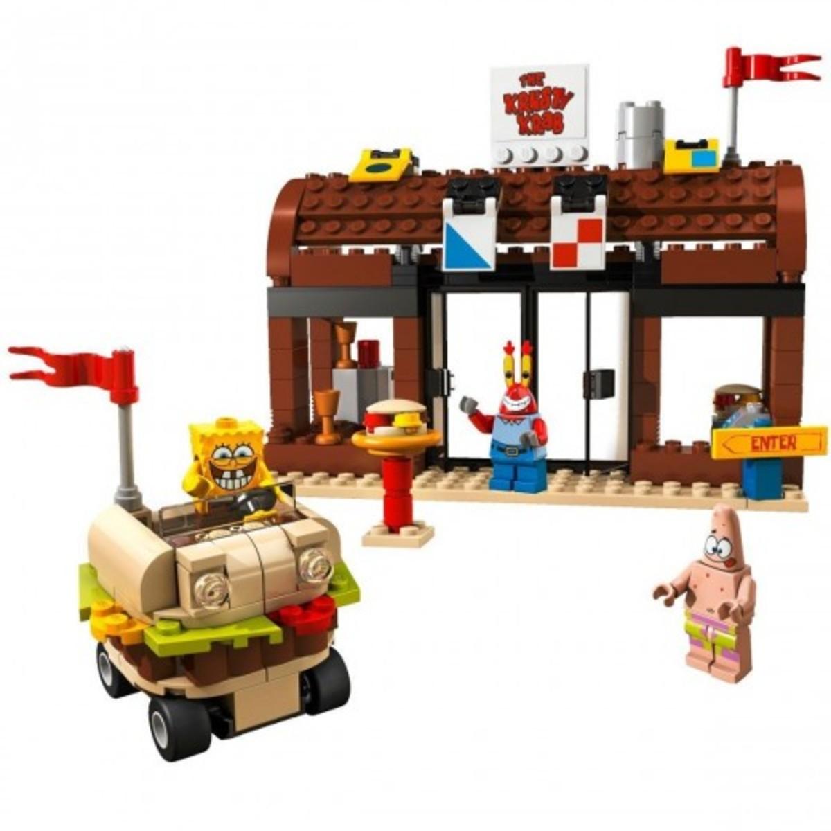 LEGO SpongBob SquarePants Krusty Krab Adventures 3833 Assembled