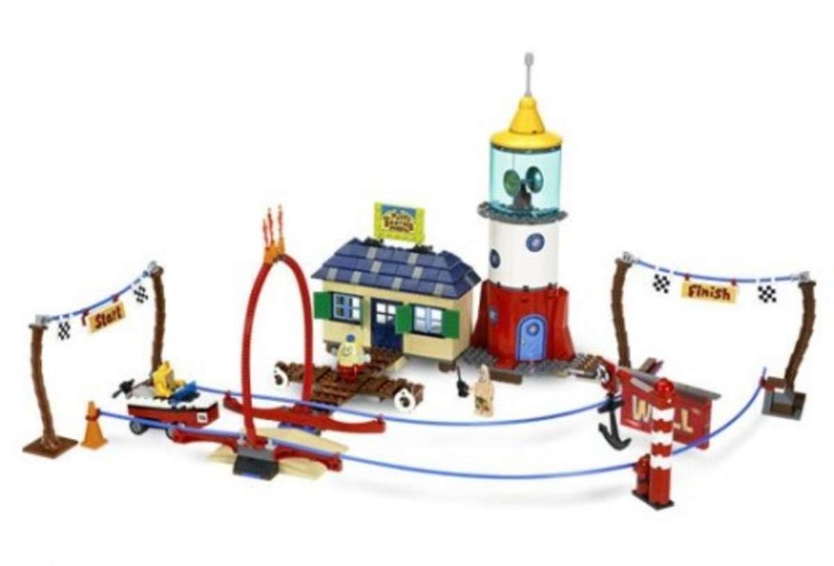 LEGO SpongeBob SquarePants Mrs. Puff's Boating School 4982 Assembled