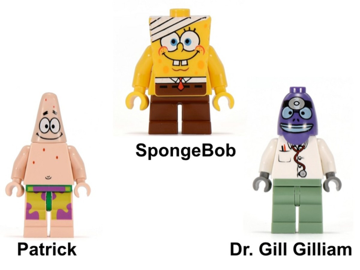 LEGO SpongeBob SquarePants The Emergency Room 3832 Minifigures
