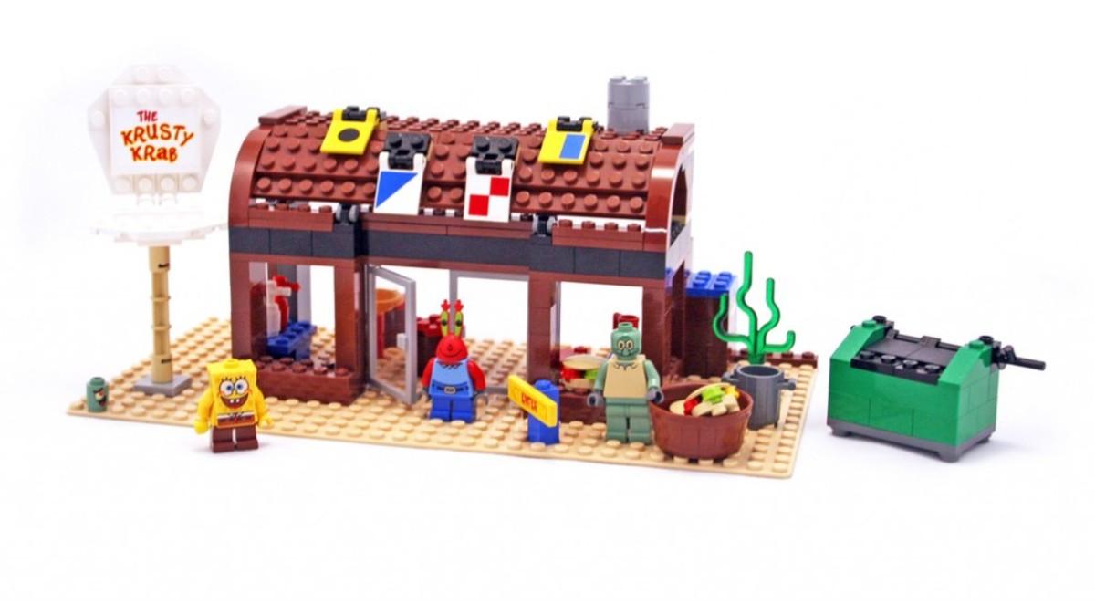 LEGO SpongeBob SquarePants Krusty Krab 3825 Assembled
