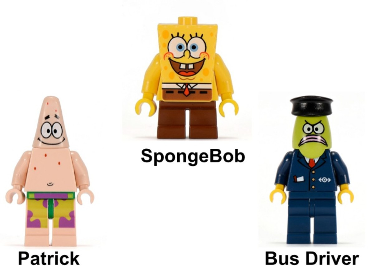LEGO SpongeBob SquarePants The Bikini Bottom Express 3830 Minifigures