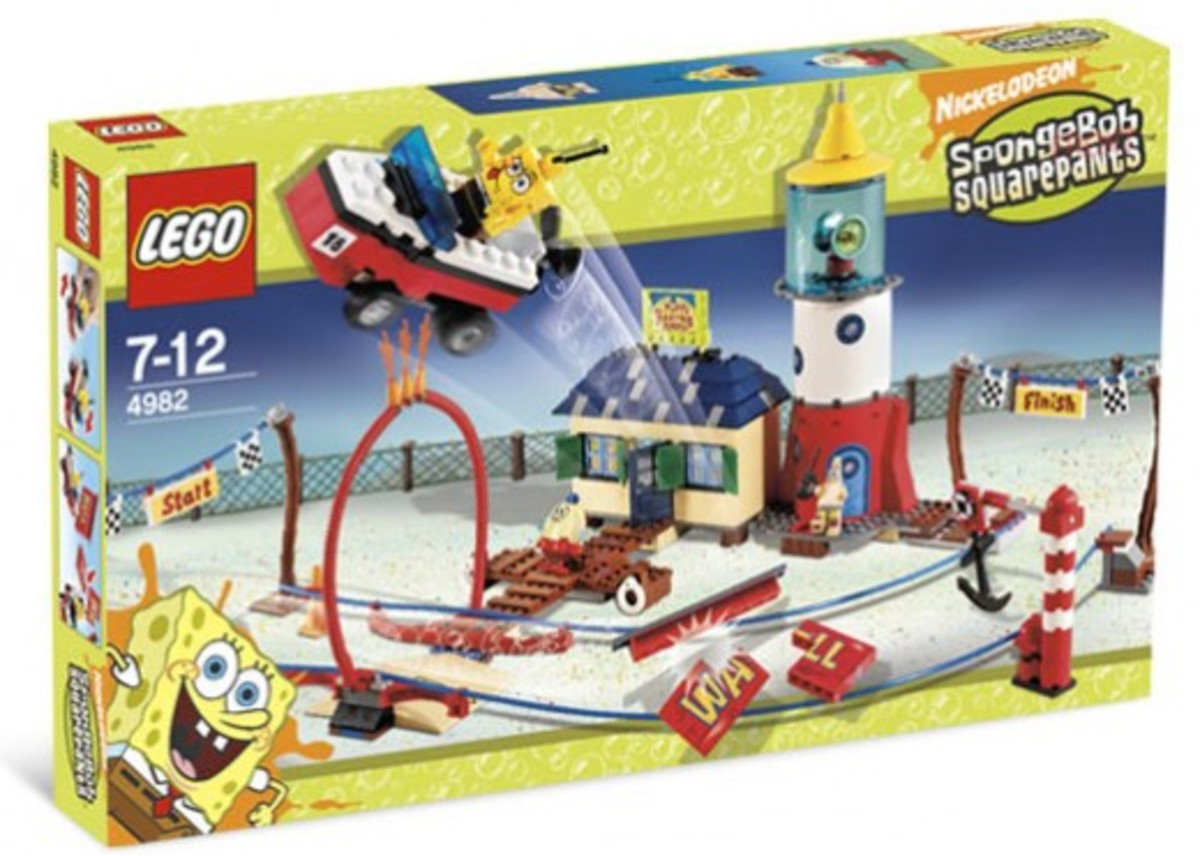 LEGO SpongeBob SquarePants Mrs. Puff's Boating School 4982 Box