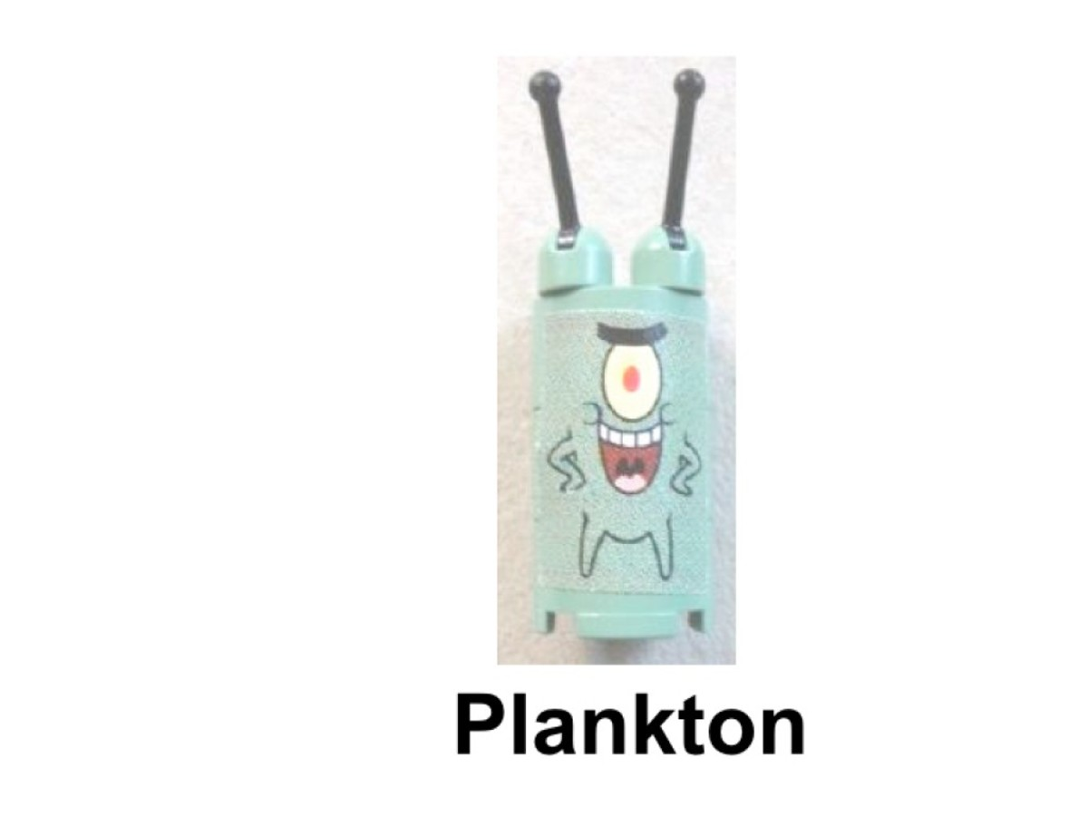 LEGO SpongeBob SquarePants Build-A-Bob 3826 Plankton Minifigure