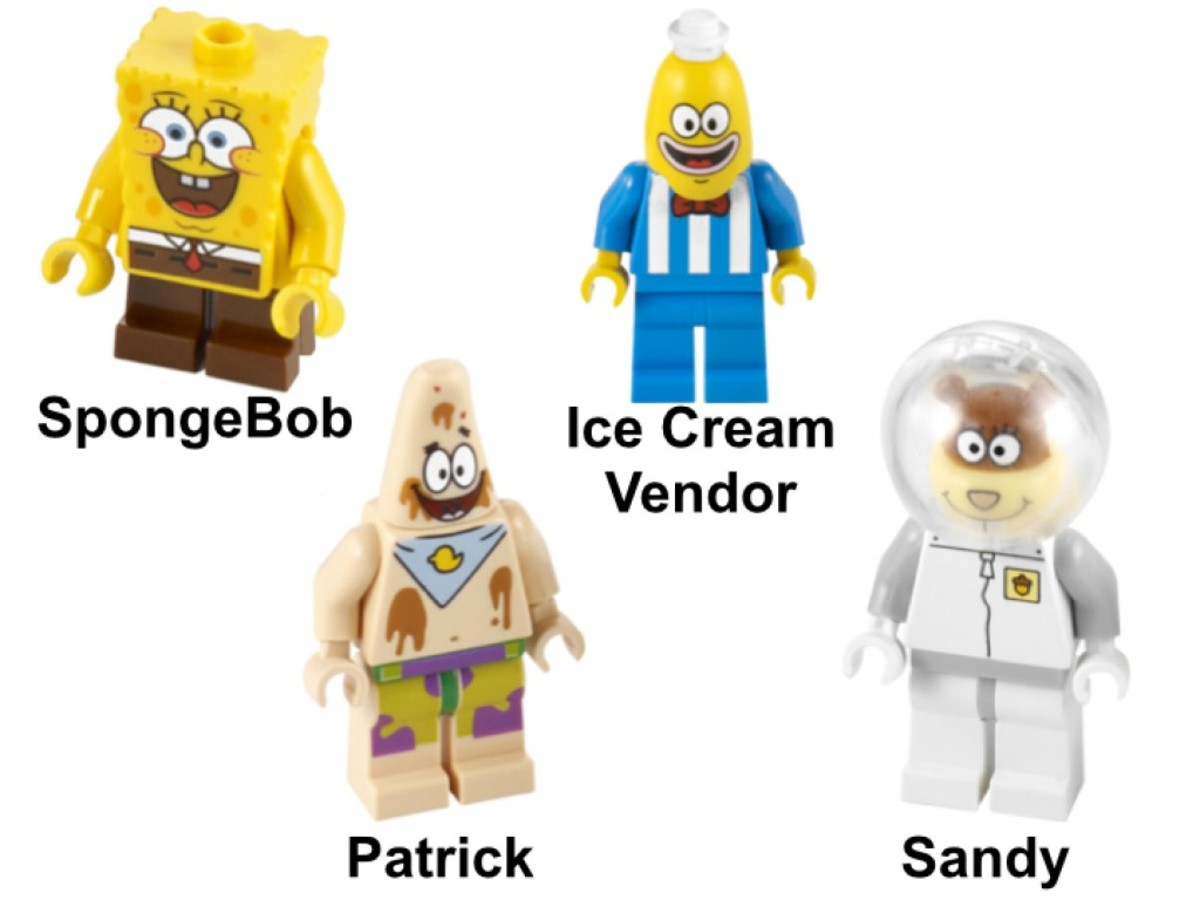 LEGO SpongeBob SquarePants Glove World 3816 Minifigures