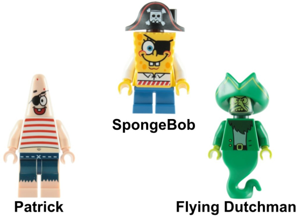 LEGO SpongeBob SquarePants The Flying Dutchman 3817 Minifigures