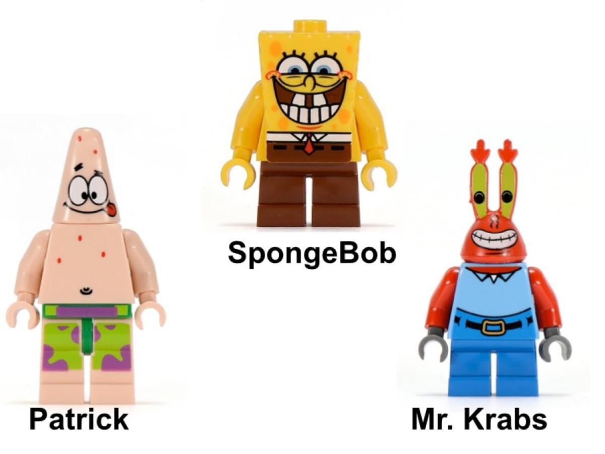 LEGO SpongBob SquarePants Krusty Krab Adventures 3833 Minifigures
