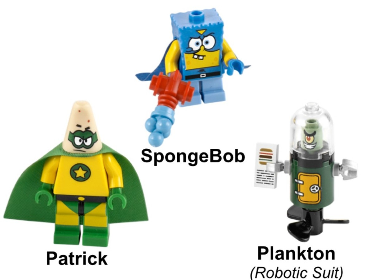 LEGO SpongeBob SquarePants Heroic Heroes of the Deep 3815 Minifigures