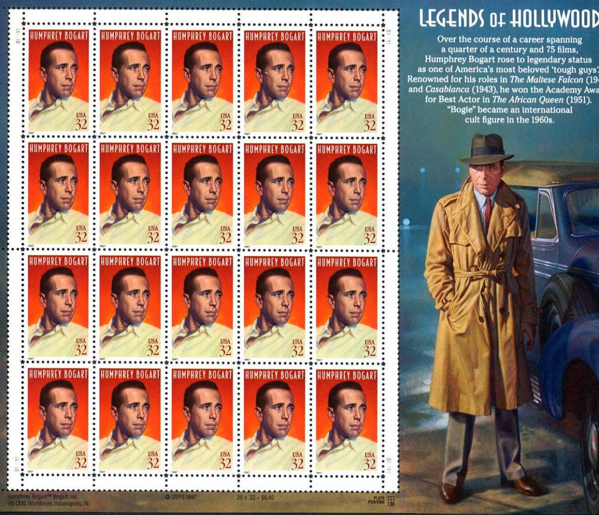 Legends of Hollywood Stamp Series | HobbyLark