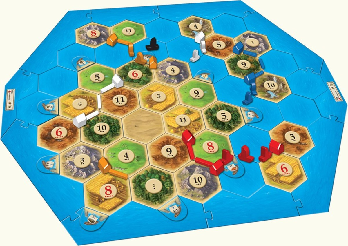 The board for the Seafarers expansion.