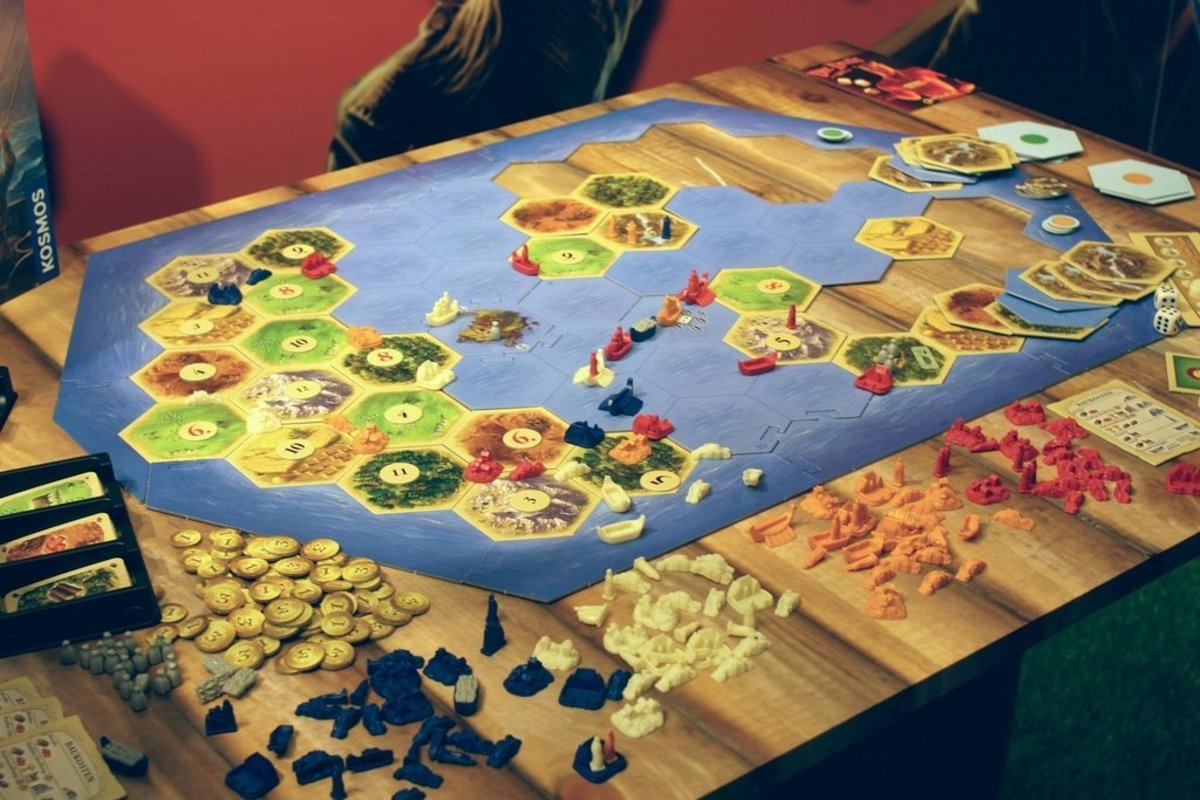 A game of Catan played with Explorers and Pirates.
