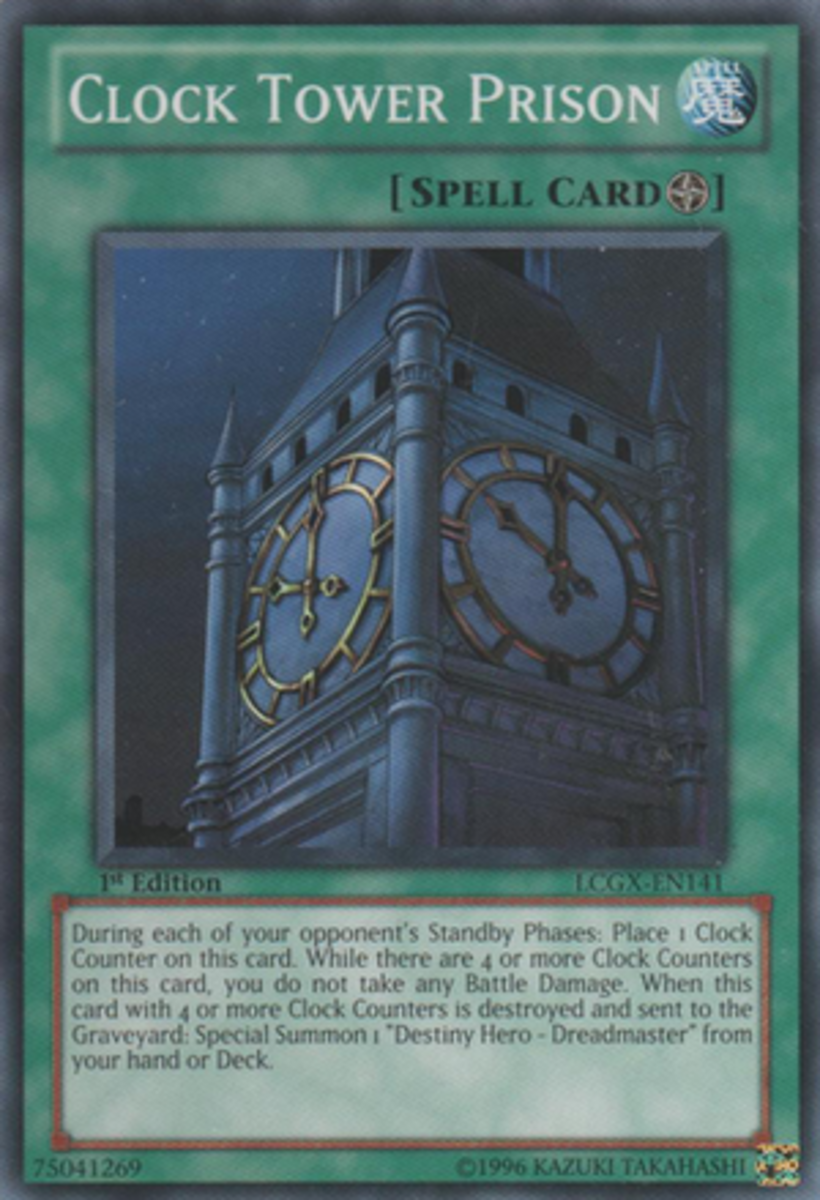 Clock Tower Prison, a Field Spell that (eventually) prevents battle damage to you.