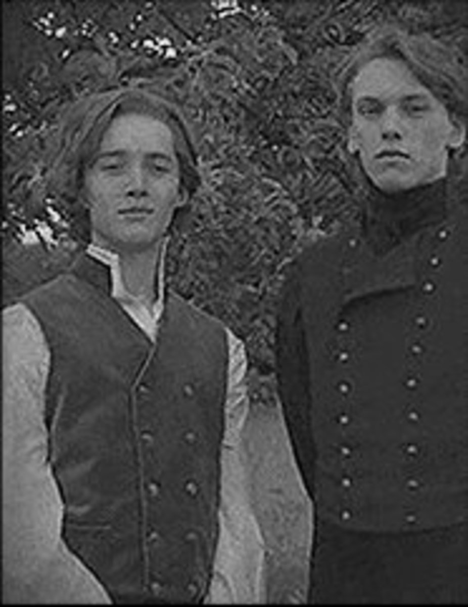 Dumbledore and Grindelwald as schoolboys.