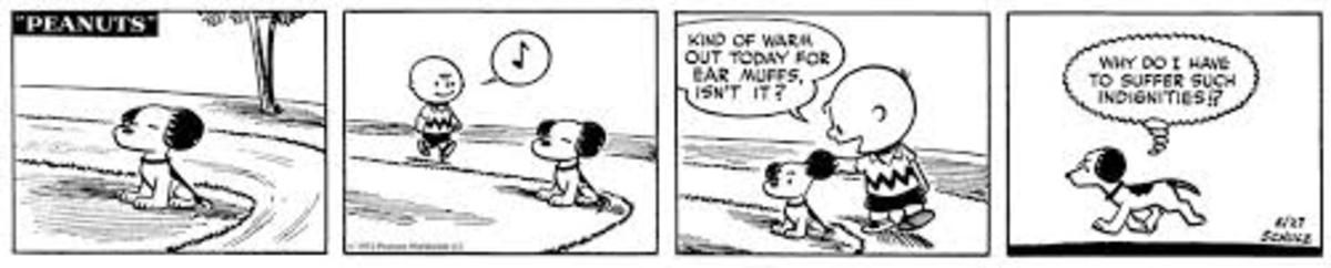 First appearance of Snoopy's thought bubble, May 27, 1952