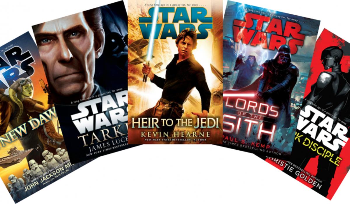 Cover art for various Disney-sanctioned Star Wars novels.