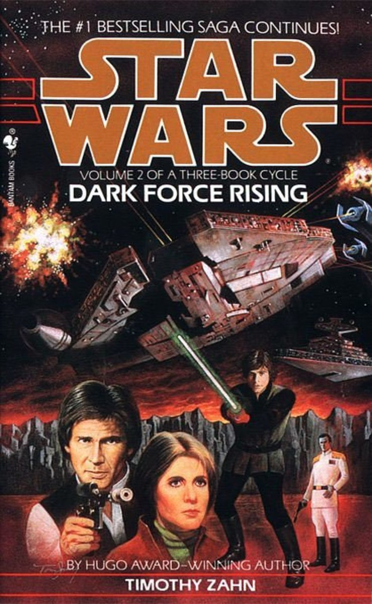 """Dark Force Rising"" is the second book of the ""Thrawn Trilogy."""