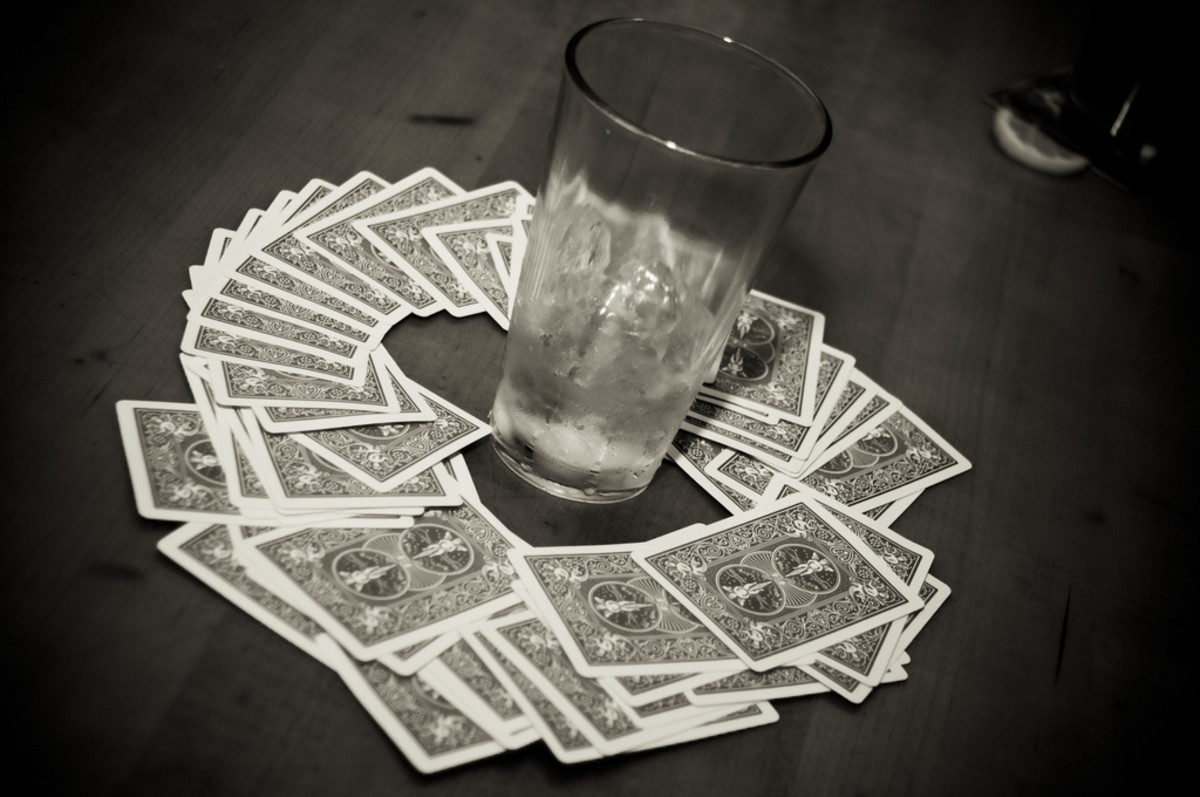 Ring of Fire requires a deck of cards and an empty glass.