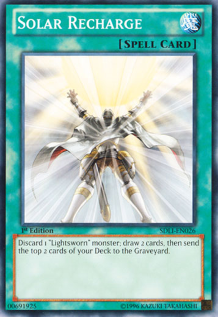 You know what's happening in this card?  Judgment Dragon is draining 1000 lifepoints to purge the field, and this guy's loving his front row seat.  Look!  You know it; I know it: The Lightsworns are craaazzzyyy.