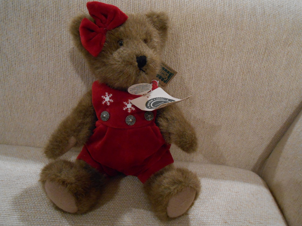 "Boyd's Bear, ""Gwen Marie Bear"" from my personal collection."