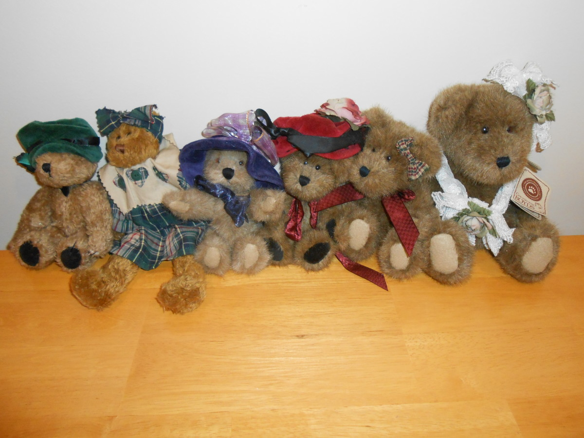 I recently purchased ALL of these Boyds Bears for 25 cents each ($1.50) at a thrift store! Great deal, and I am reselling a few on eBay!