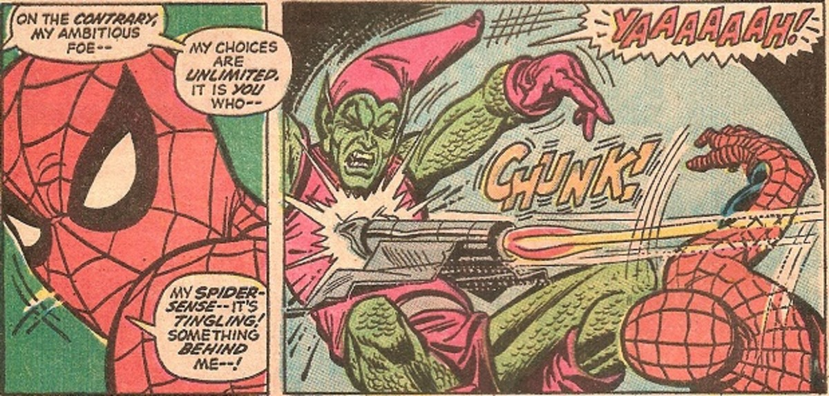 "The first death of Norman ""Green Goblin"" Osborn"
