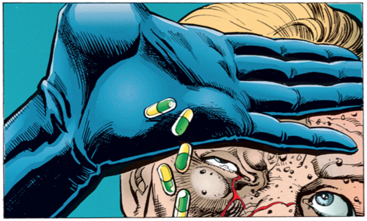 A drug free Batman showing Porter that he didn't need the Venom.