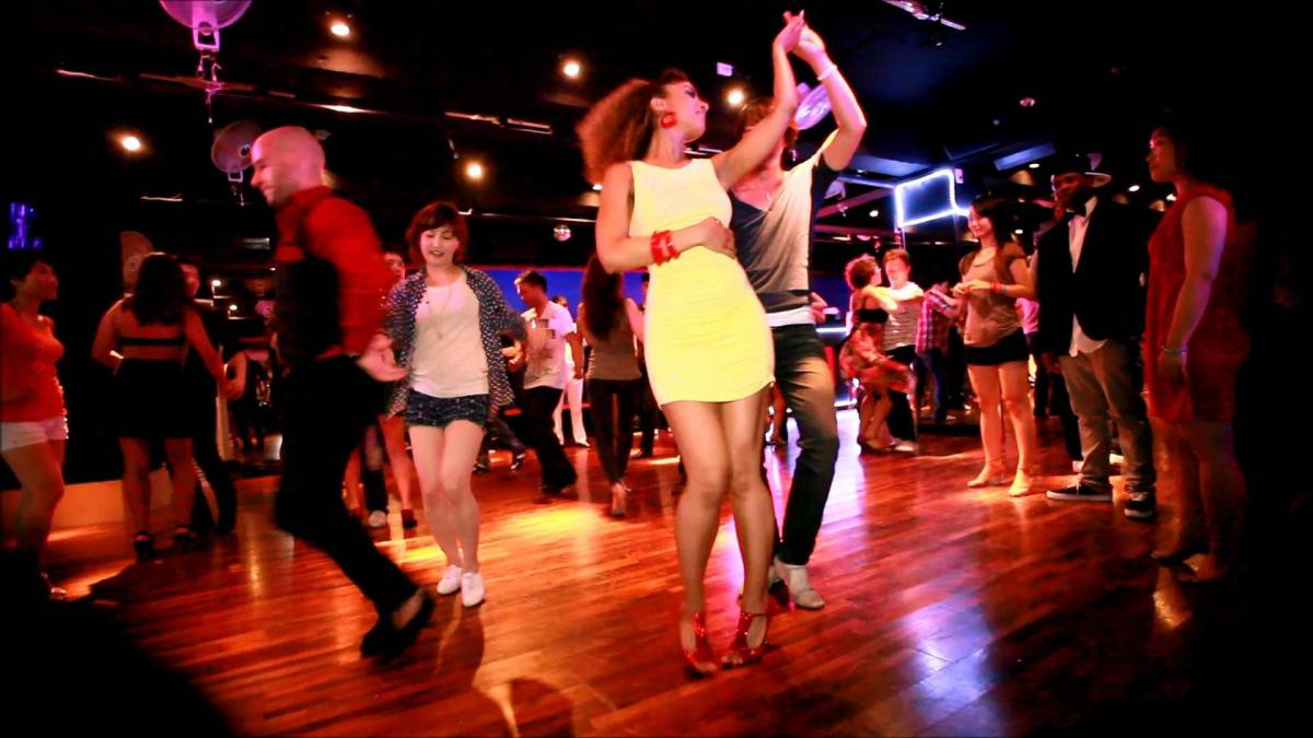 Find a good spot to dance on the dance floor!