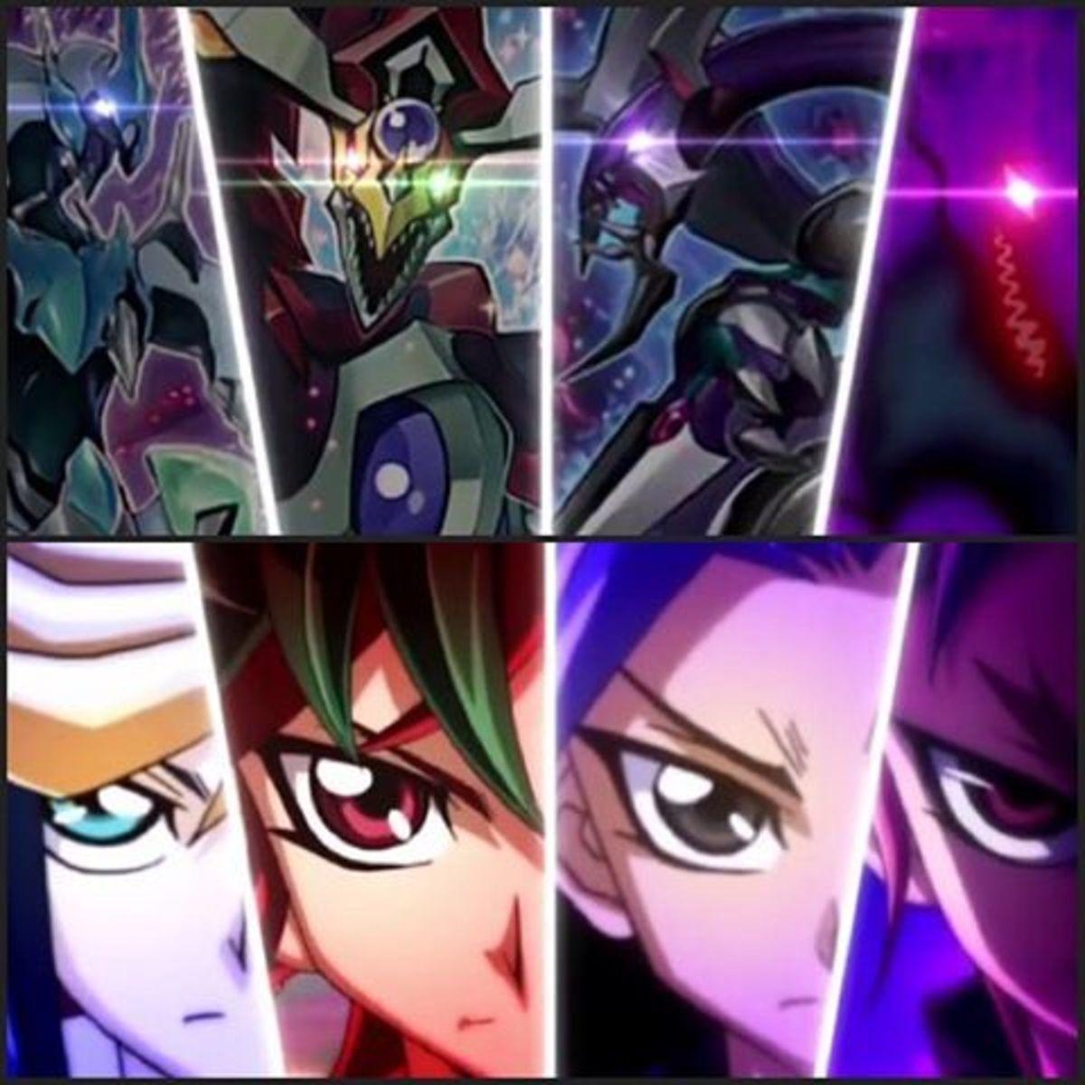 Yugo, Yuya, Yuto, and Yuri: users of Synchro, Pendulum, XYZ, and Fusion Summoning