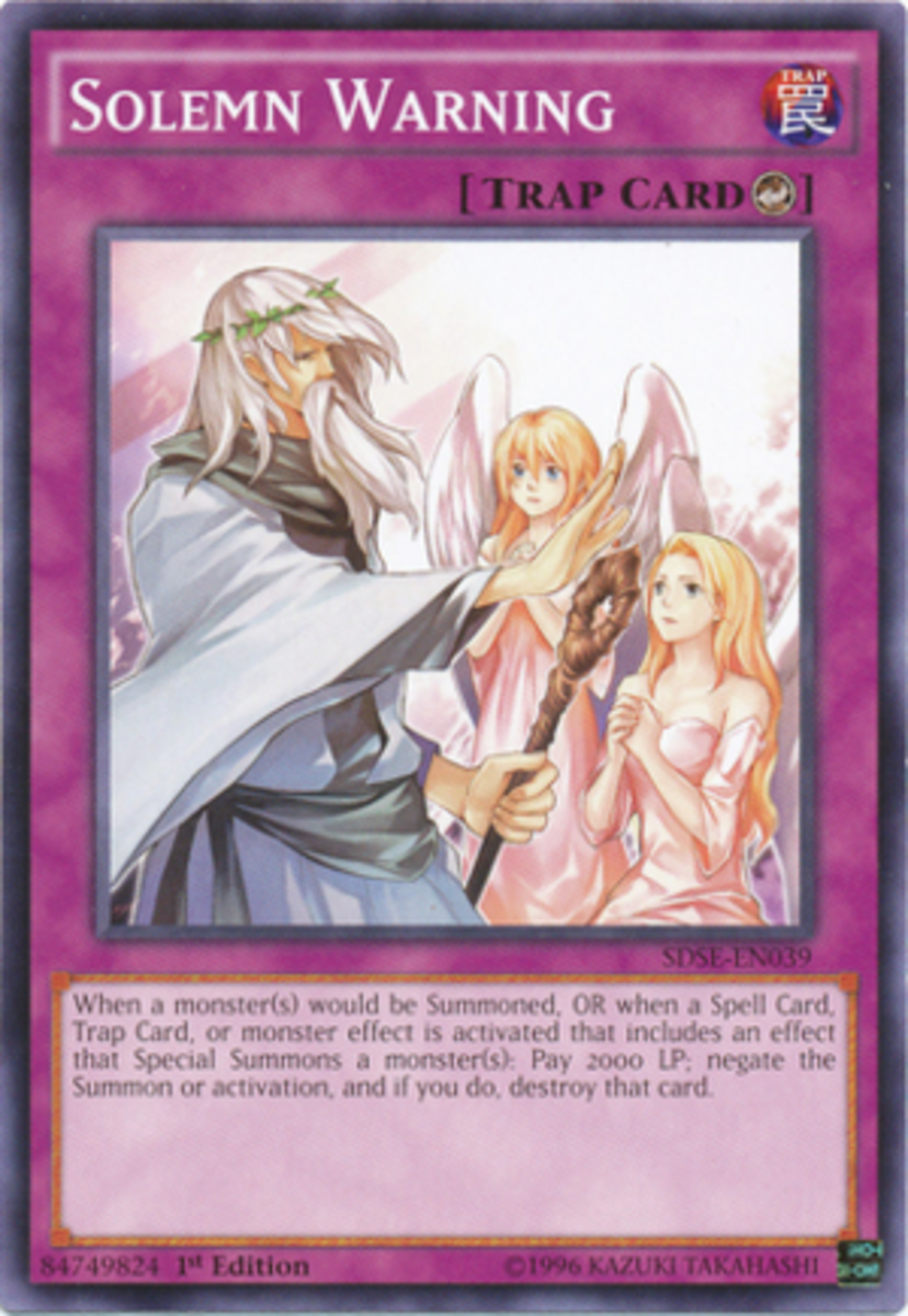 This is a weird one.  It's either he's dead, senile and hallucinating, or speaking to the Feather Folk from Star Ocean.  Either way, this card has some explaining to do.