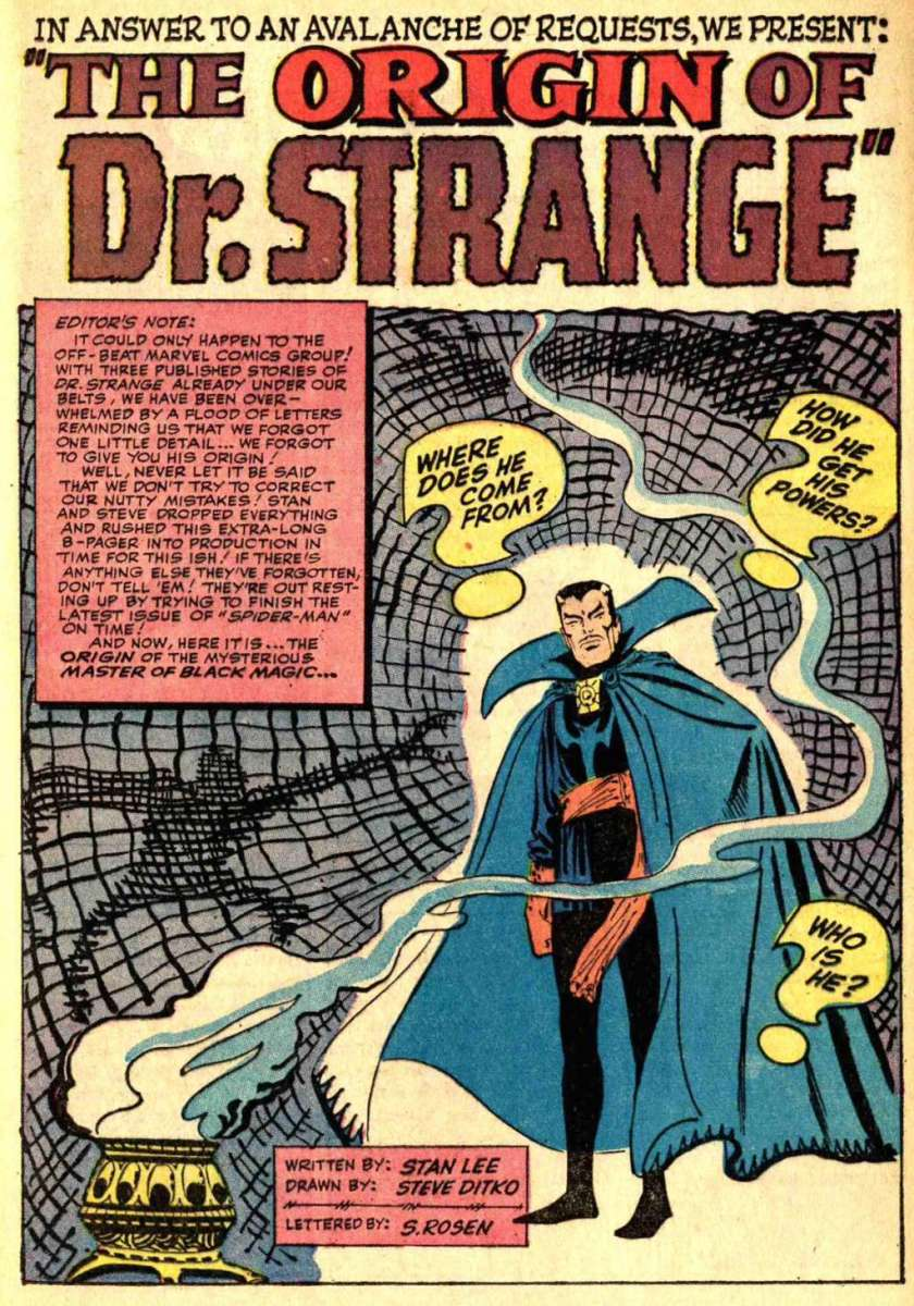 From Strange Tales #115 - The origin of Doctor Strange