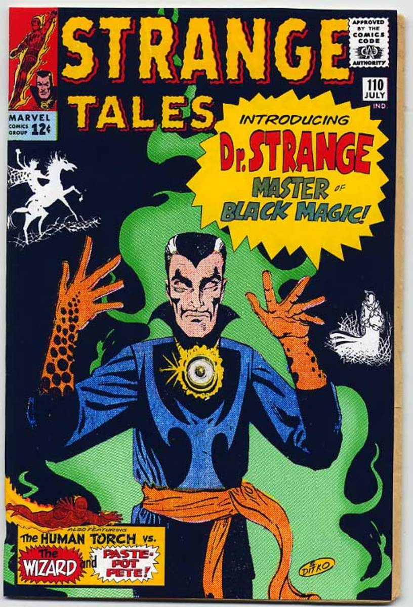 The First appearance of Doctor Strange Strange Tales #110 in July 1963