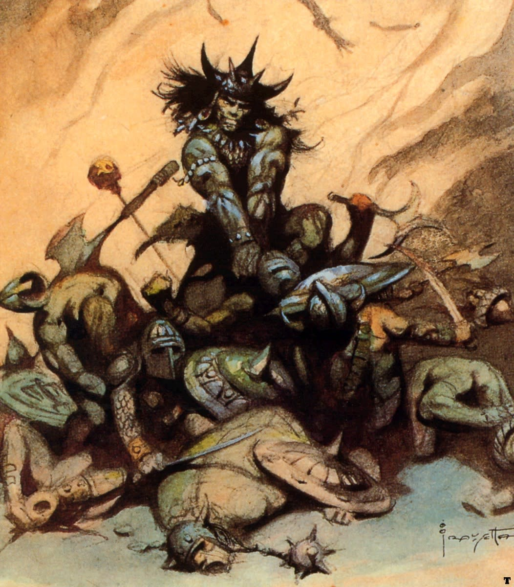 Conan sketch from Frank Frazetta