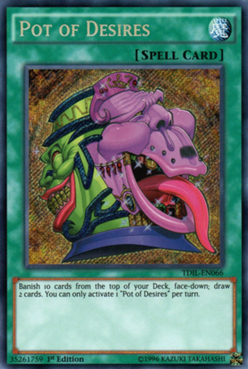 This is what happens when your Voldemorting ends in an epic fail: Half your head gets attached to a pot, and you create a very controversial Yugioh card.