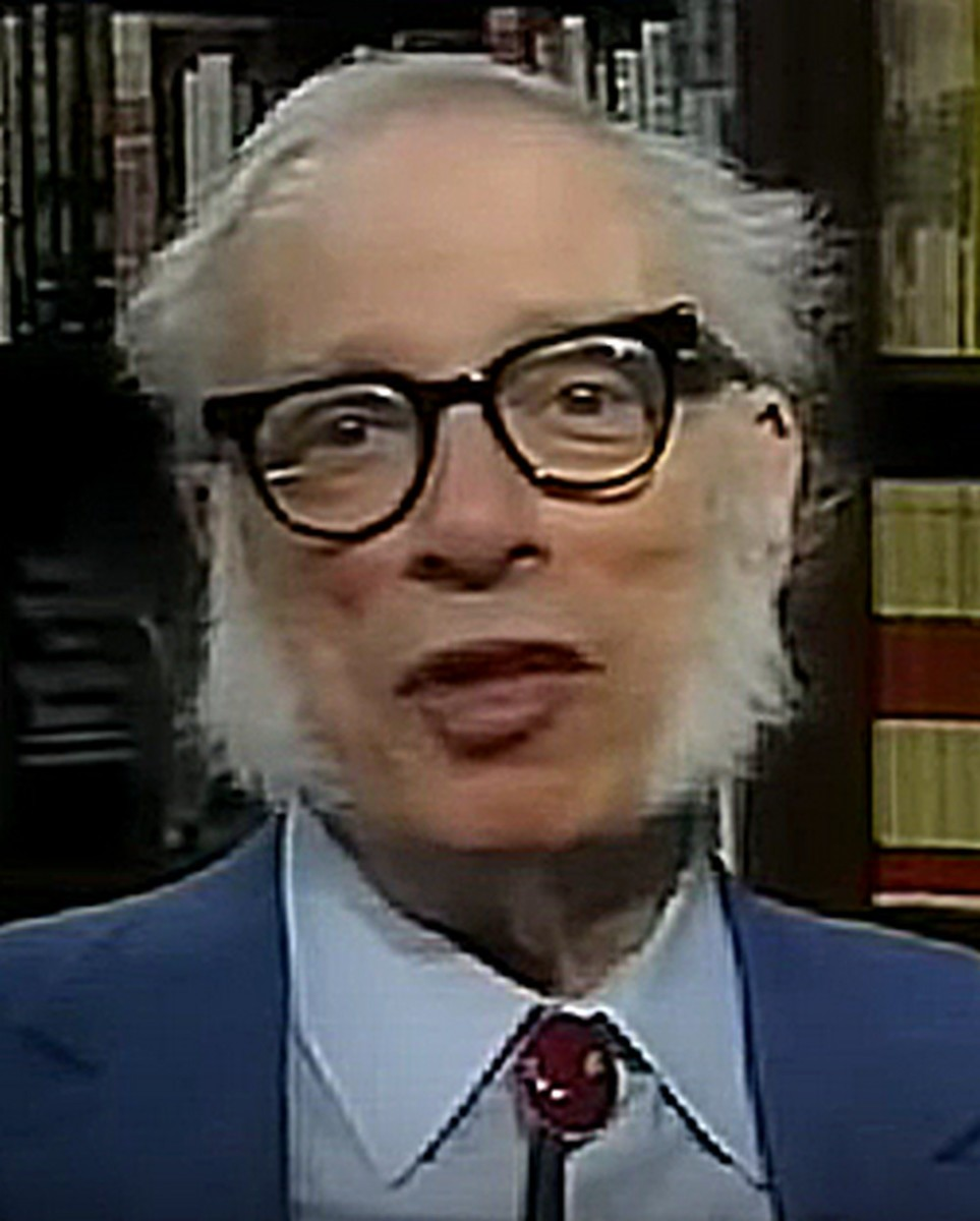 Isaac Asimov, prolific author of science books and science fiction novels, from a 1992 documentary.
