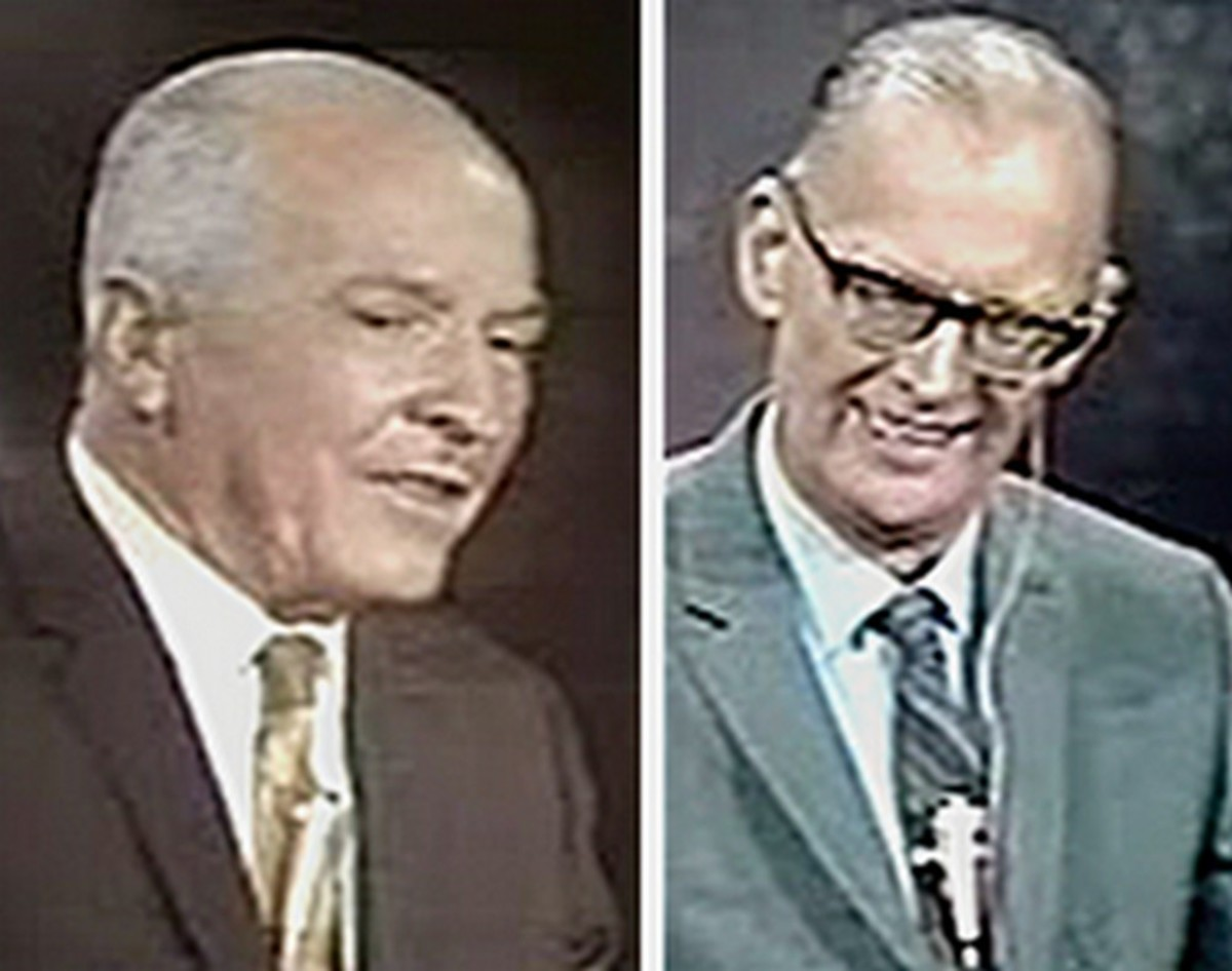 Robert A. Heinlein and Arthur C. Clark were interviewed by CBS News Anchor Walter Cronkite on July 20, 1969 during the Apollo 11 moon landing.