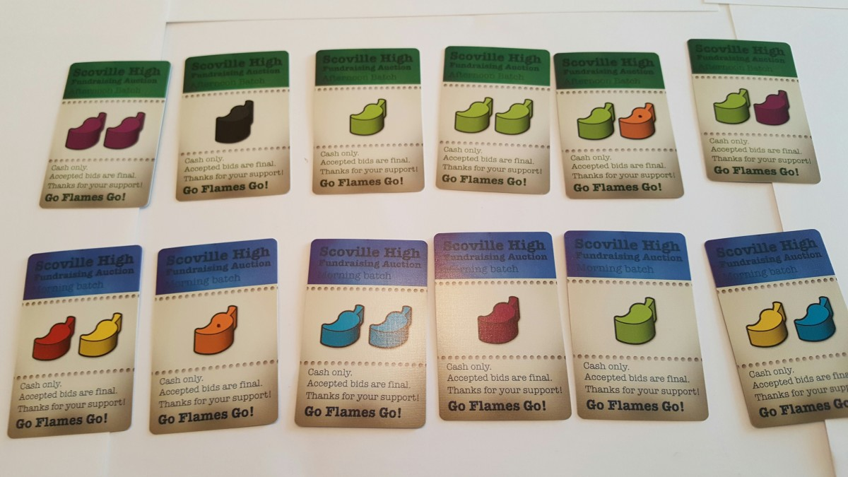 Scoville auction cards