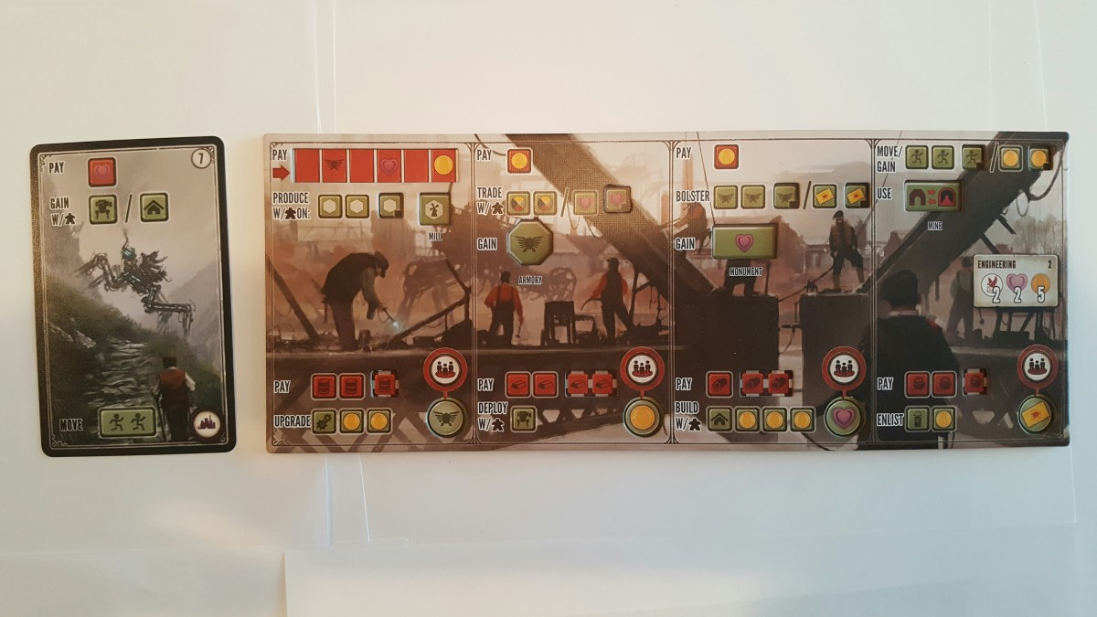 Scythe Factory Card (left) and Player Board (right)