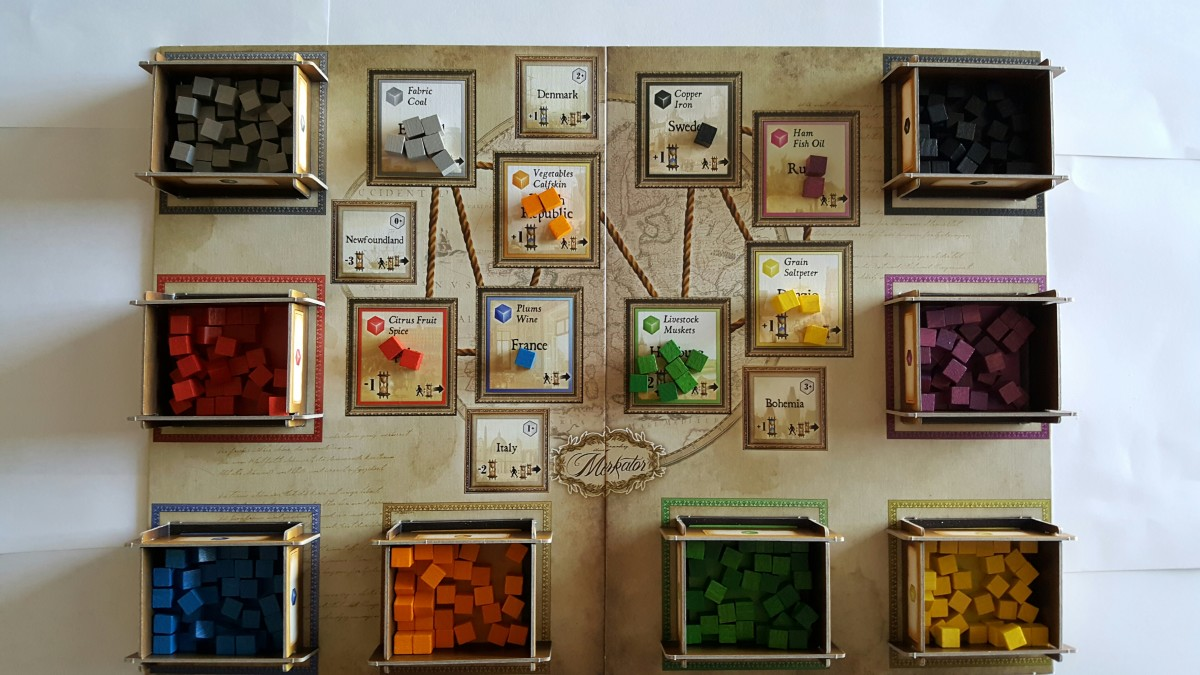 Goods Cubes on the Main Board in Merkator