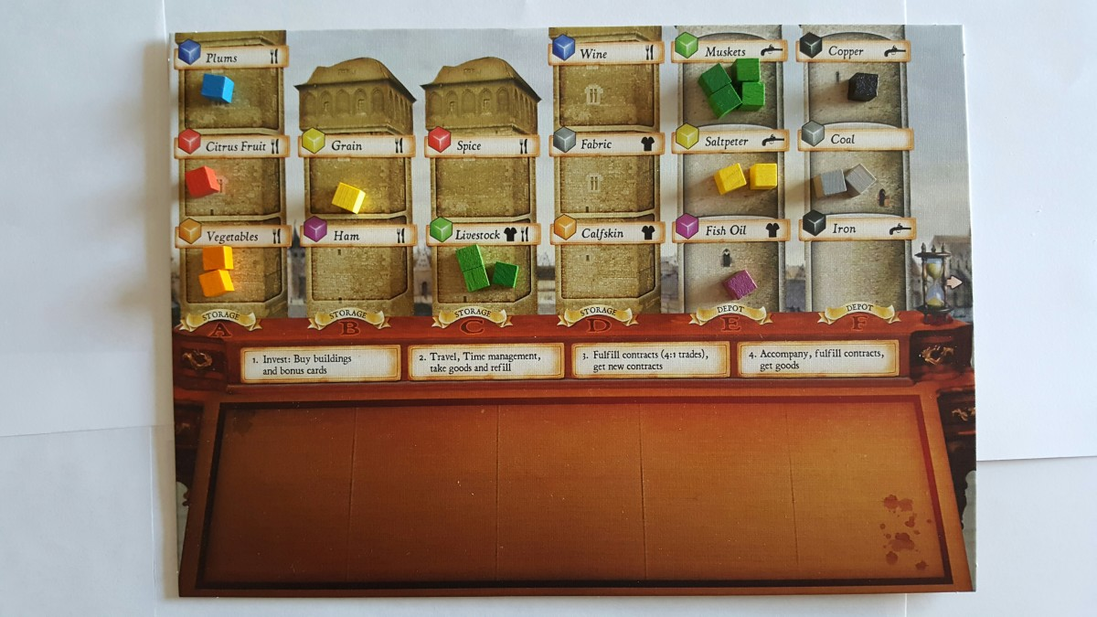 Goods Cubes on the Player Board-Merkator