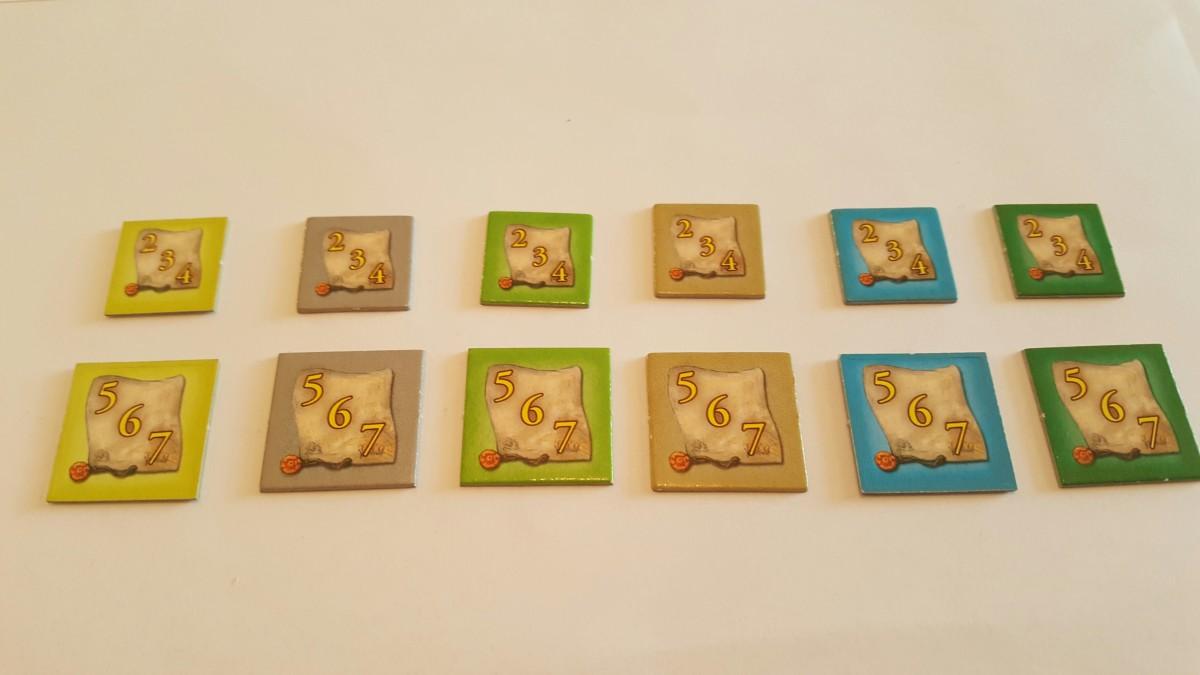 Bonus Tiles-The Castles of Burgundy